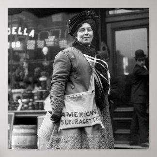 Suffragette americano, 1900s tempranos póster