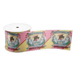 Suffragette Coffee & Chicory Satin Ribbon