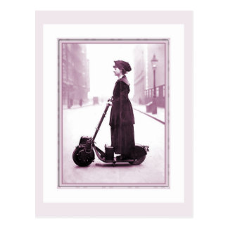 Suffragette de ciclo 1916 de la historia en una postal