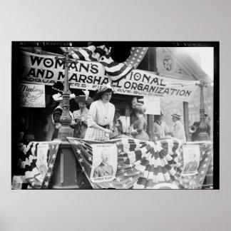 Suffragette de Harriman de la margarita de Póster