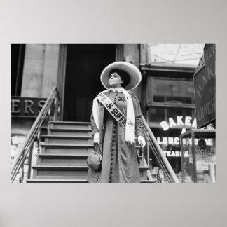 Suffragette de Stylin: 1908 Póster