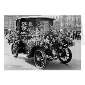 Suffragette Flower Car: 1914 Card