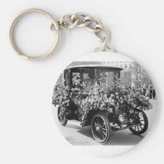 Suffragette Flower Car: 1914 Keychain