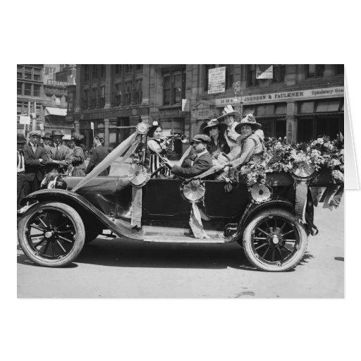 Suffragette Flower Sale, 1916 Greeting Card