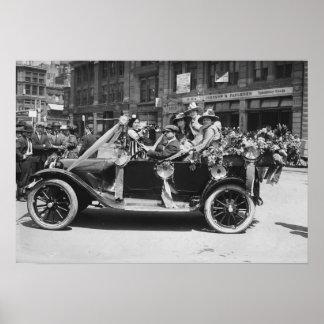 Suffragette Flower Sale, 1916 Poster