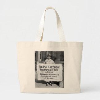 Suffragette for Alice Paul, 1917 Jumbo Tote Bag