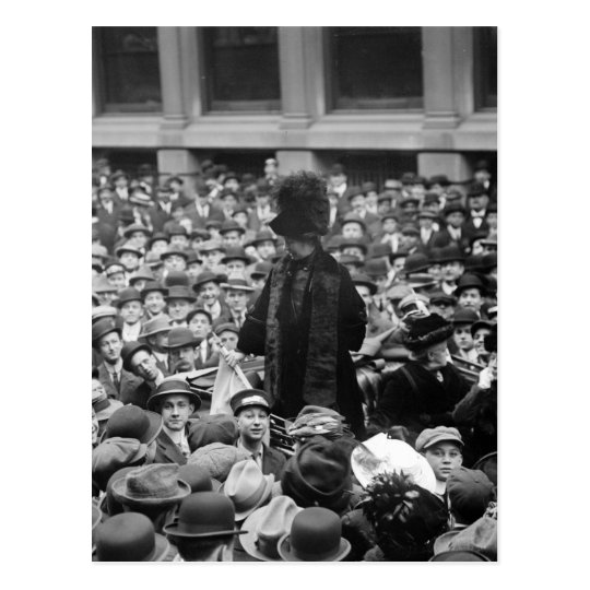 Suffragette Hits The Street: early 1910s Postcard