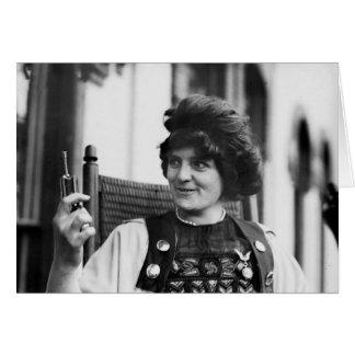 Suffragette Ida von Claussen Tarjetón