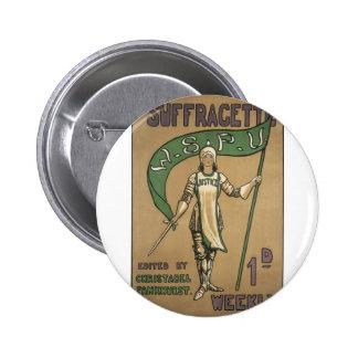 Suffragette Magazine Pinback Buttons