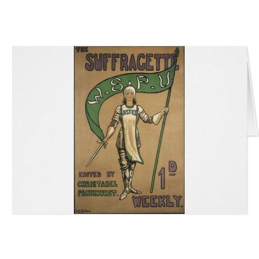 Suffragette Magazine Cards