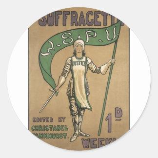 Suffragette Magazine Classic Round Sticker