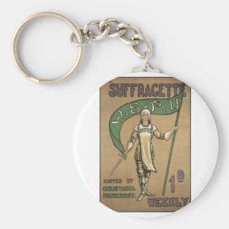 Suffragette Magazine Keychain