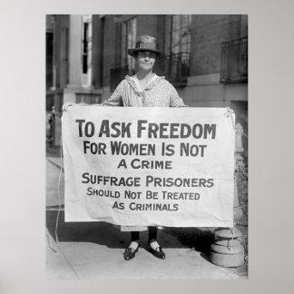 Suffragette para Alicia Paul, 1917 Poster