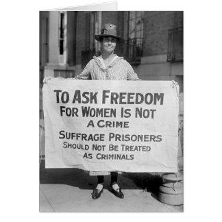 Suffragette para Alicia Paul, 1917 Tarjeta De Felicitación