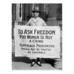 Suffragette para Alicia Paul, 1917 Tarjeta Postal