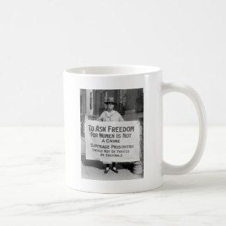 Suffragette para Alicia Paul, 1917 Taza De Café