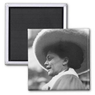 Suffragette que habla, 1908 imán cuadrado