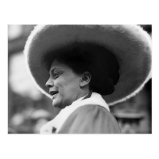 Suffragette que habla 1908 postal