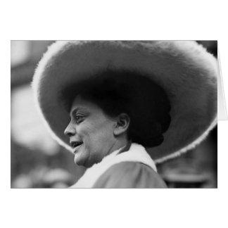 Suffragette que habla, 1908 tarjeta de felicitación