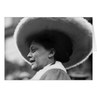 Suffragette que habla 1908 tarjetón