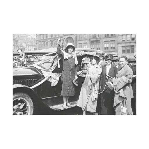 Suffragette Rosalía Jones 1924 Lona Envuelta Para Galerías