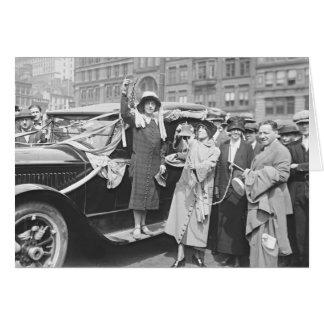 Suffragette Rosalía Jones 1924 Tarjeta