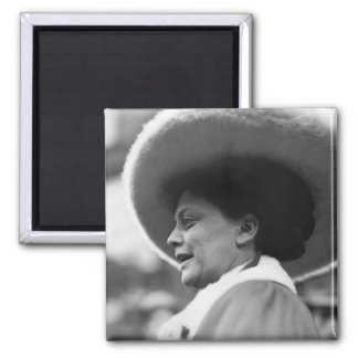 Suffragette Speaking, 1908 2 Inch Square Magnet