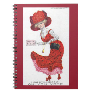 Suffragette Votes for Women Postcard Art Paper Notebook