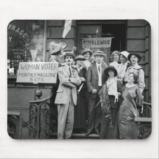 Suffragettes and Their Men, 1913 Mouse Pad