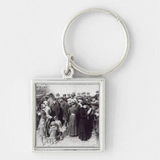 Suffragettes en Hastings, 1908 Llavero Cuadrado Plateado