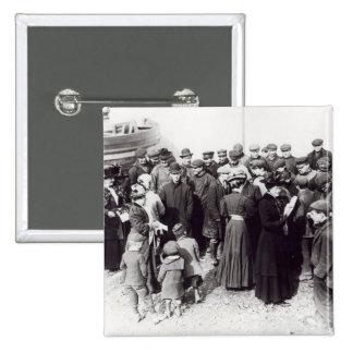 Suffragettes en Hastings, 1908 Pin Cuadrada 5 Cm