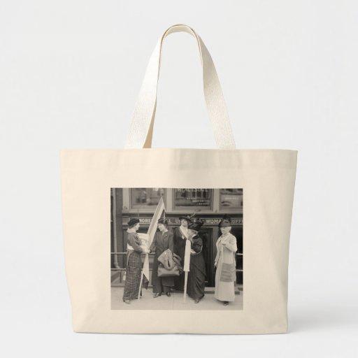 Suffragettes enérgico, 1914 bolsas lienzo