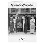 Suffragettes enérgico, 1914 felicitacion