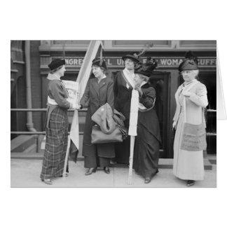 Suffragettes enérgico 1914 felicitacion