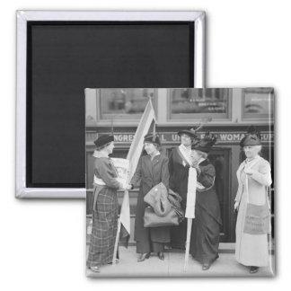 Suffragettes enérgico, 1914 imán cuadrado