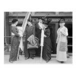 Suffragettes enérgico, 1914 postales