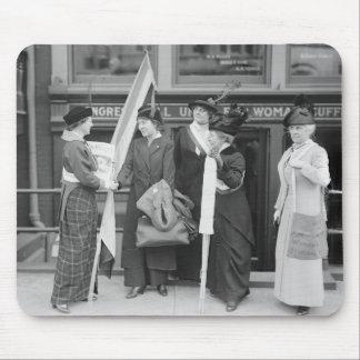 Suffragettes enérgico, 1914 tapete de raton