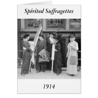Suffragettes enérgico, 1914 tarjeta de felicitación