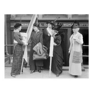 Suffragettes enérgico, 1914 postal