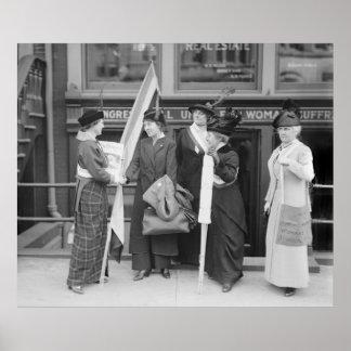 Suffragettes enérgicos: 1914 póster