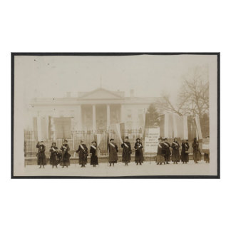 Suffragettes march on Washington Poster