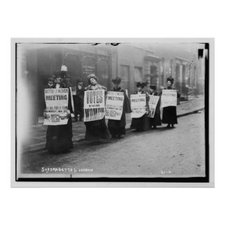 Suffragettes Marching From London Poster