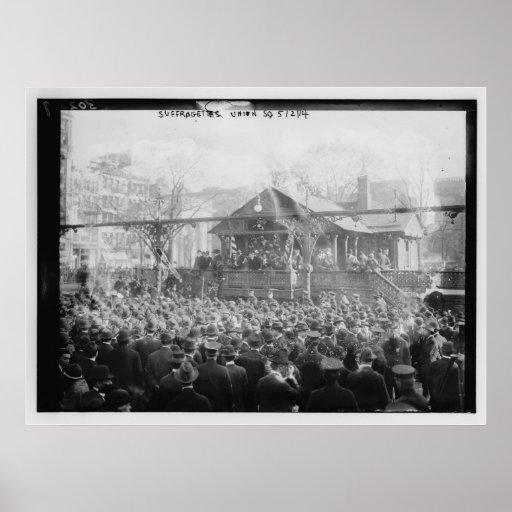 Suffragettes unión cuadrado 2 de mayo de 1914 impresiones