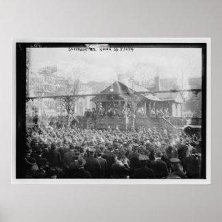 Suffragettes unión cuadrado 2 de mayo de 1914 póster