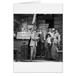 Suffragettes y su Men 1913 Felicitación