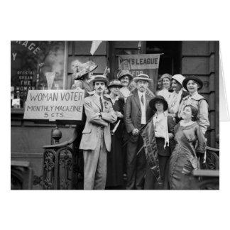 Suffragettes y su Men 1913 Felicitaciones