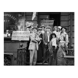 Suffragettes y su Men 1913 Postal