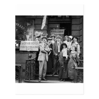 Suffragettes y su Men 1913 Postales