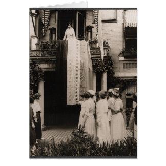 Suffragists Celebrate Ratification 19th Amendment Card