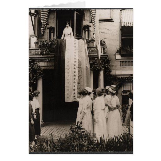 Suffragists Celebrate Ratification 19th Amendment Greeting Cards